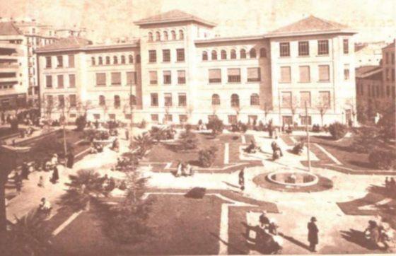 Imagen de los jardines en 1934, cuando se llamaban de Pablo Iglesias | Foto: http://amigosdehesa.blogspot.com.es