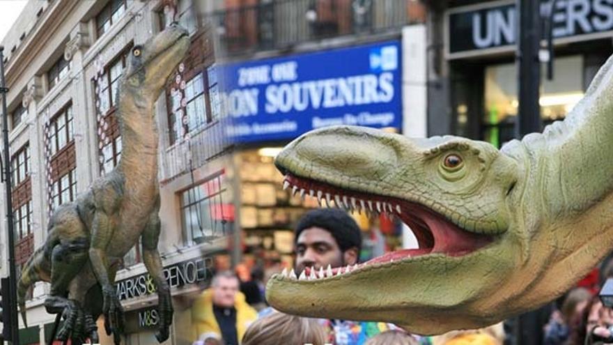 Hay quienes dedican su vida a fabricar réplicas de dinosaurios