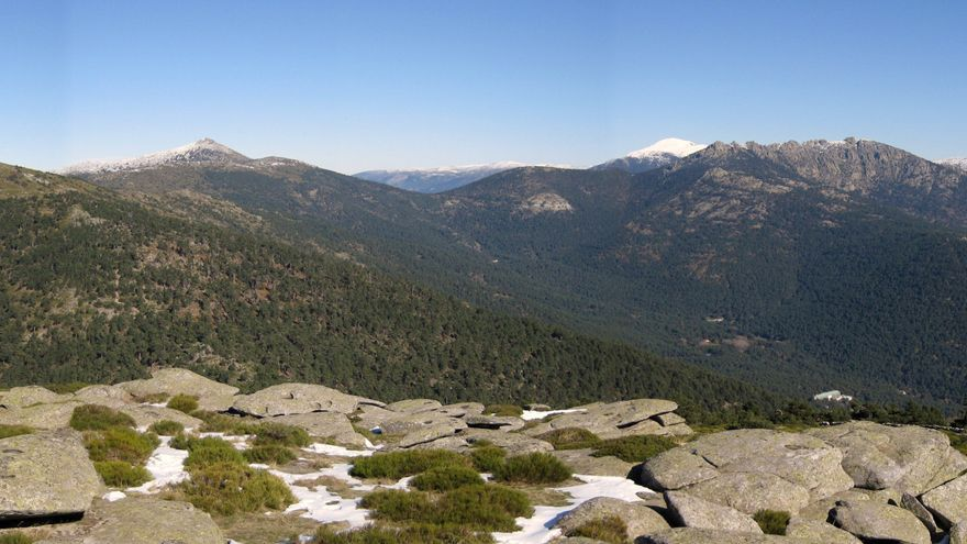 Vista del Parque Nacional de la Sierra de Guadarrama.