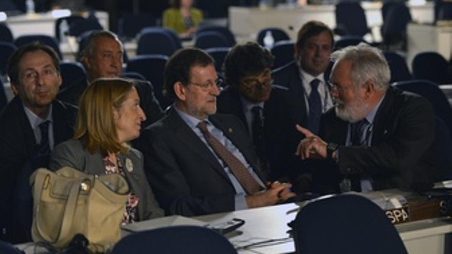 Ana Pastor, Miguel Arias Cañete Y Mariano Rajoy En La Cumbre De Río +20