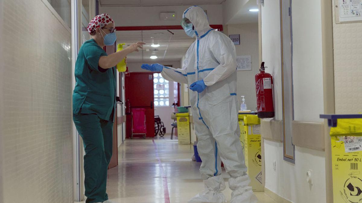 Unidad Covid en el hospital.