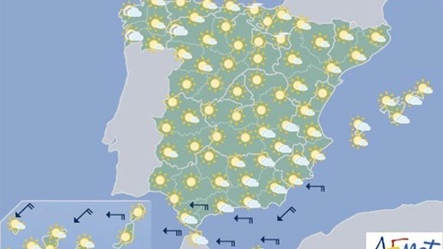 Mañana, temperaturas en ascenso y cielo soleado en casi toda España