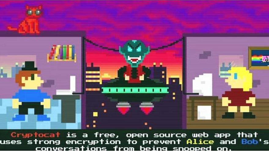 Imagen del vídeotutorial de Cryptocat
