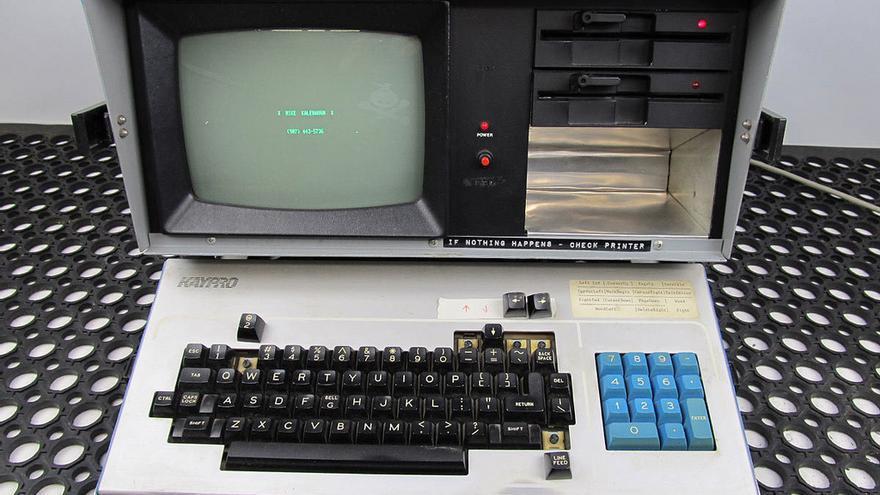 Kaypro II, uno de los ordenadores portátiles pioneros en los años 80
