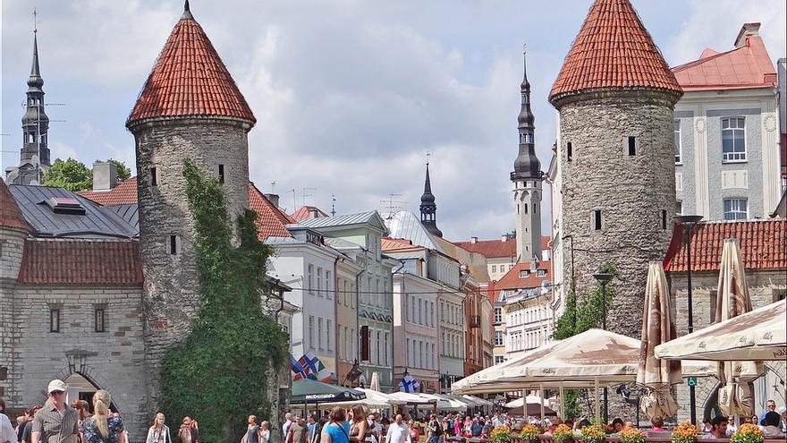 Puerta de Viru, una de las imágenes más bonitas de Tallinn. Jean-Pierre Dalbéra