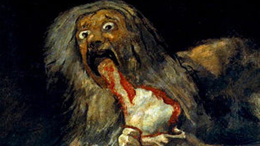 Saturno devorando a su hijo - metáfora del tratamiento que el gobierno de España ha dado a la I+D
