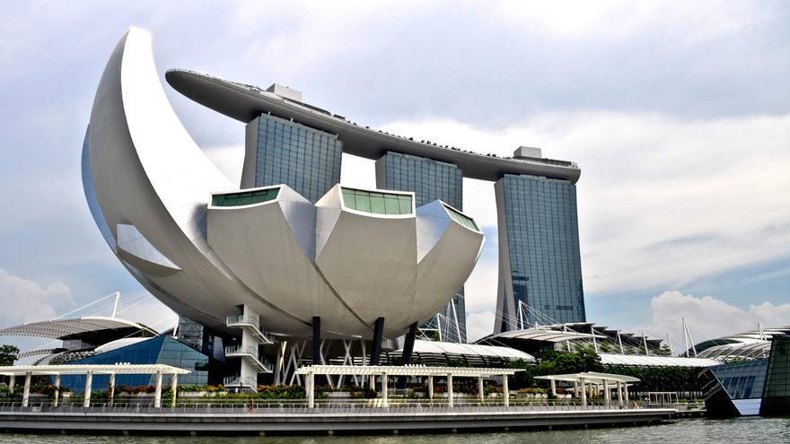 Perfiles de Marina Bay, nueva zona de expansión de Singapur.
