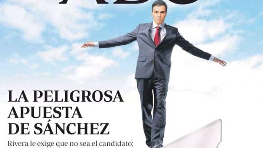 Portada de ABC con Pedro Sánchez.