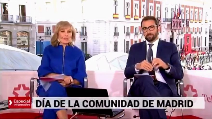 María Rey y Ricardo Altable, en el especial de Telemadrid