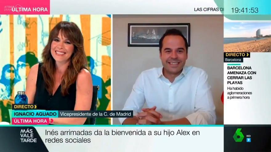 Mamen Mendizabal e Ignacio Aguado, en 'Más Vale Tarde'