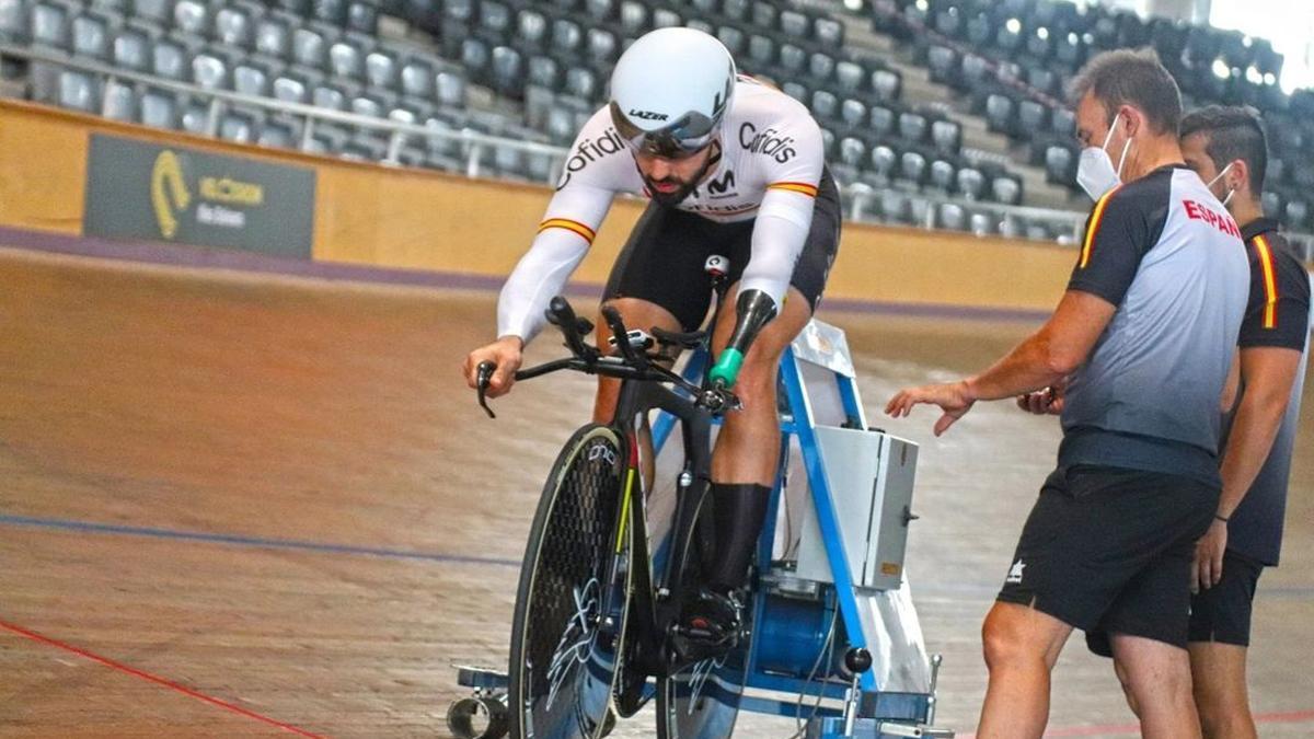 Alfonso Cabello, en su preparación para los Juegos Paralímpicos