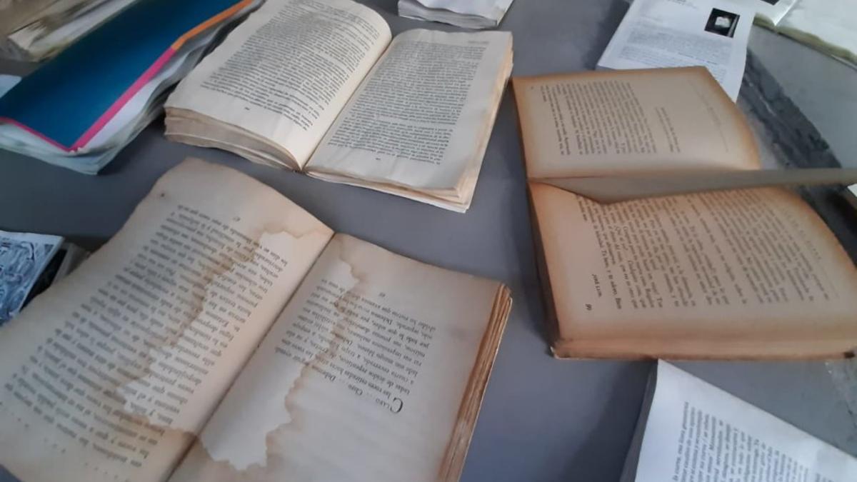 Algunos de los daños que sufrió la Biblioteca Feminaria