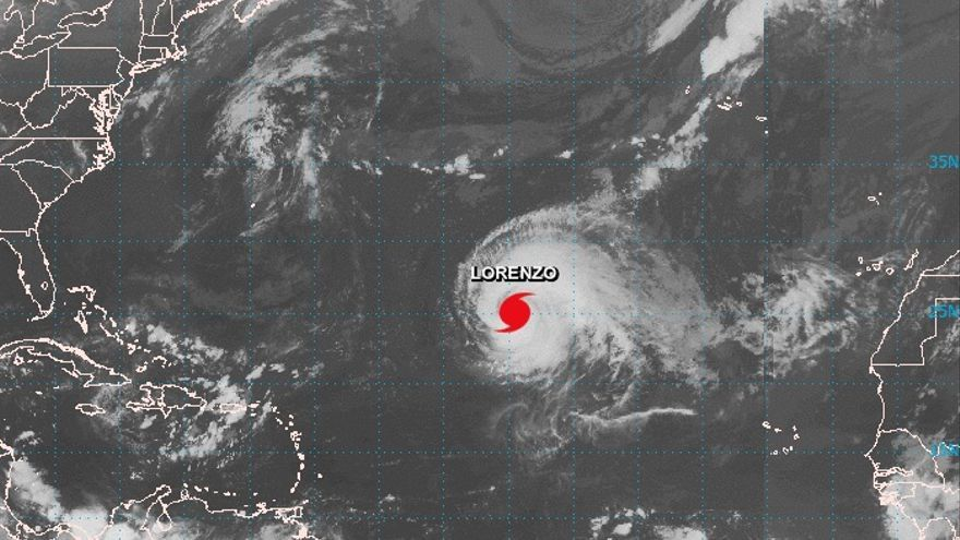 El huracán Lorenzo, de categoría 5, en una imagen de satélite