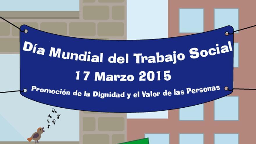 Cartel del Día Internacional del Trabajo Social 2015