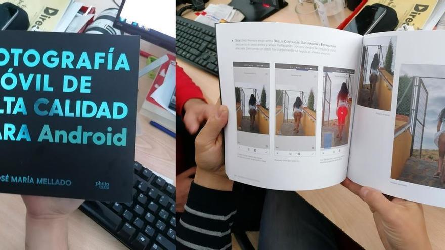 Portada y fragmentos del libro 'Fotografía móvil de alta calidad para Android'
