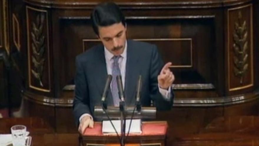 Aznar durante el debate sobre el estado de la nación en 1994