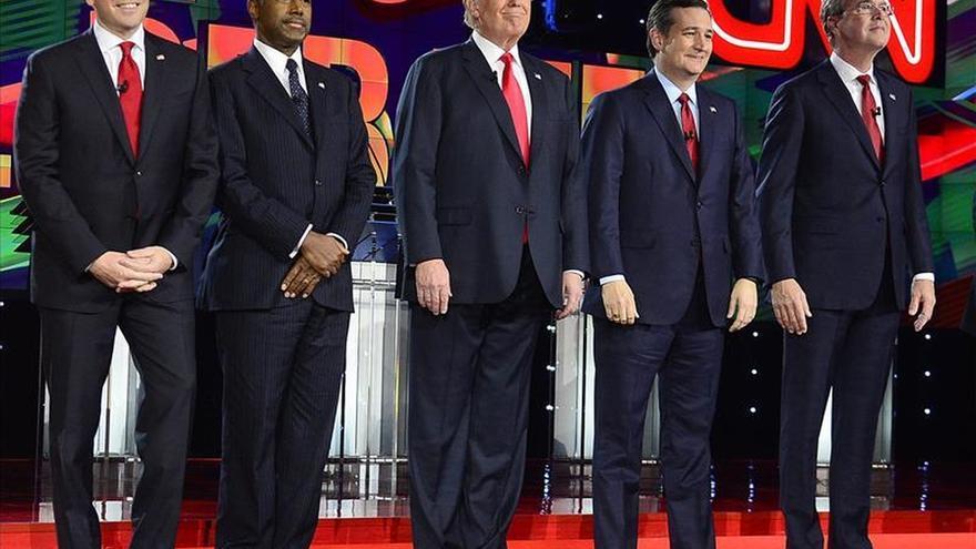 Rubio y Cruz dominaron un debate republicano que dio vida a Bush contra Trump