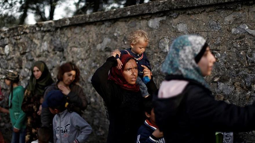 Refugiados en un campamento cercano a Idomeni, en la frontera entre Grecia y Macedonia.