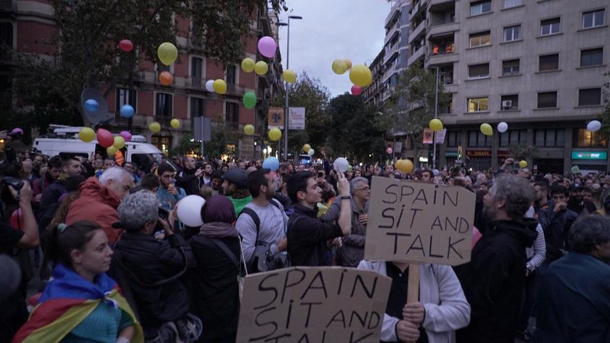 Nueva concentración en el centro de Barcelona