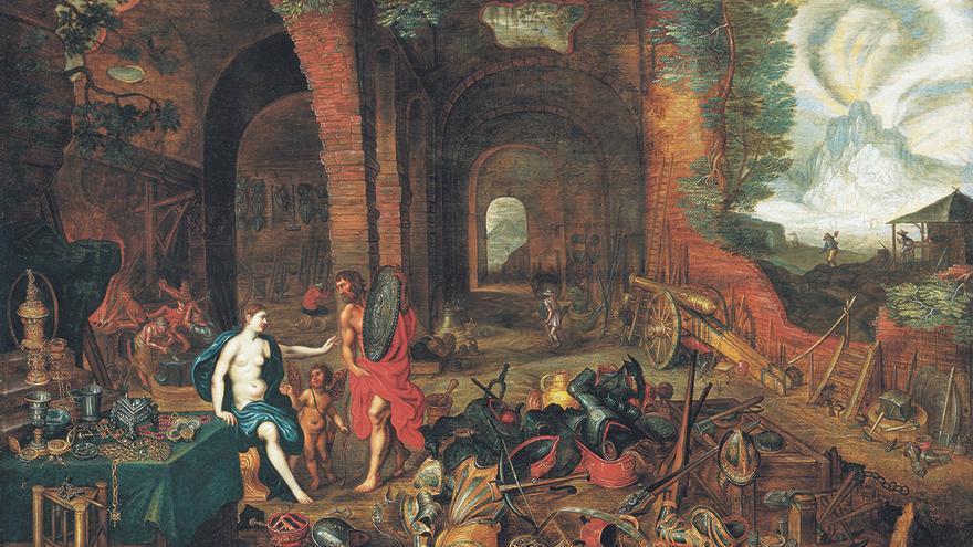 Alegoría del fuego, Jan Brueghel el joven y Hendirck van Balen (1630), cortesía Arthemisia España