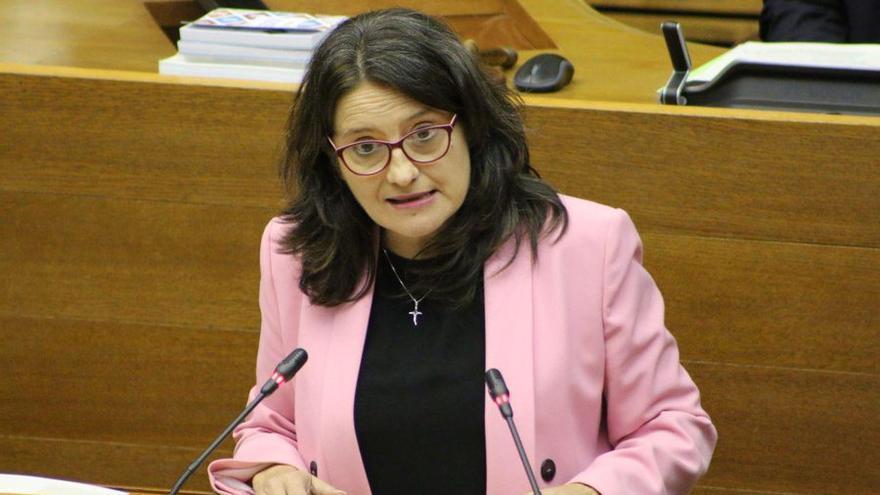 La vicepresidenta Mónica Oltra comparece ante las Corts Valencianes