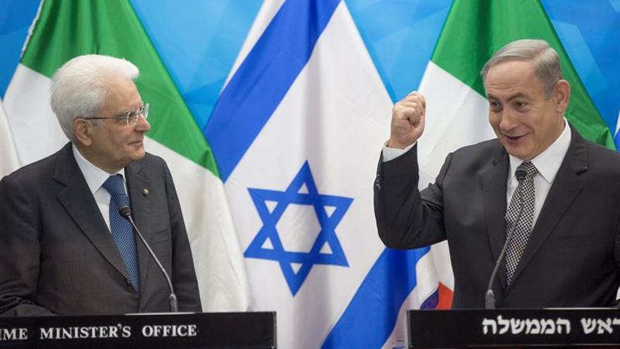 Netanyahu dice a Mattarella que paz con palestinos llegará del mundo árabe