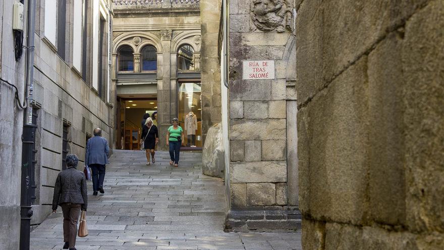 Callejuelas del centro de Santiago de Compostela.