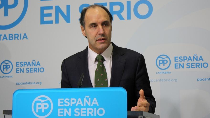 """Diego dice que el PP """"tenía un proyecto sólido"""" para Cantabria pero el PRC-PSOE está """"inerte"""""""