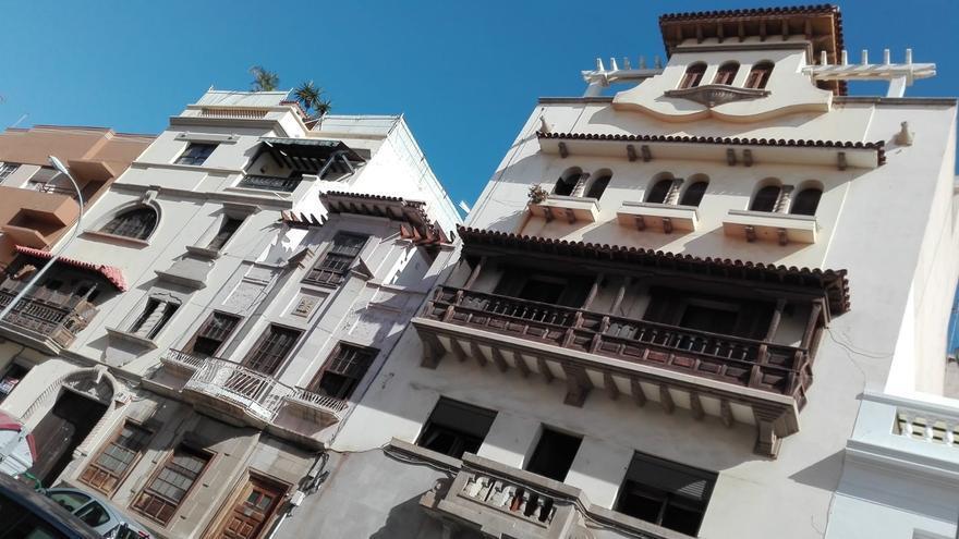 Inmueble de estilo neocanario situado en la calle Pérez de Rozas para el que el Cabildo exige protección