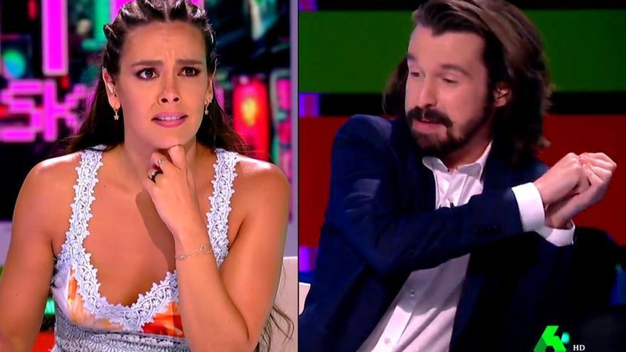 Cristina Pedroche y Santi Alverú en 'Zapeando'