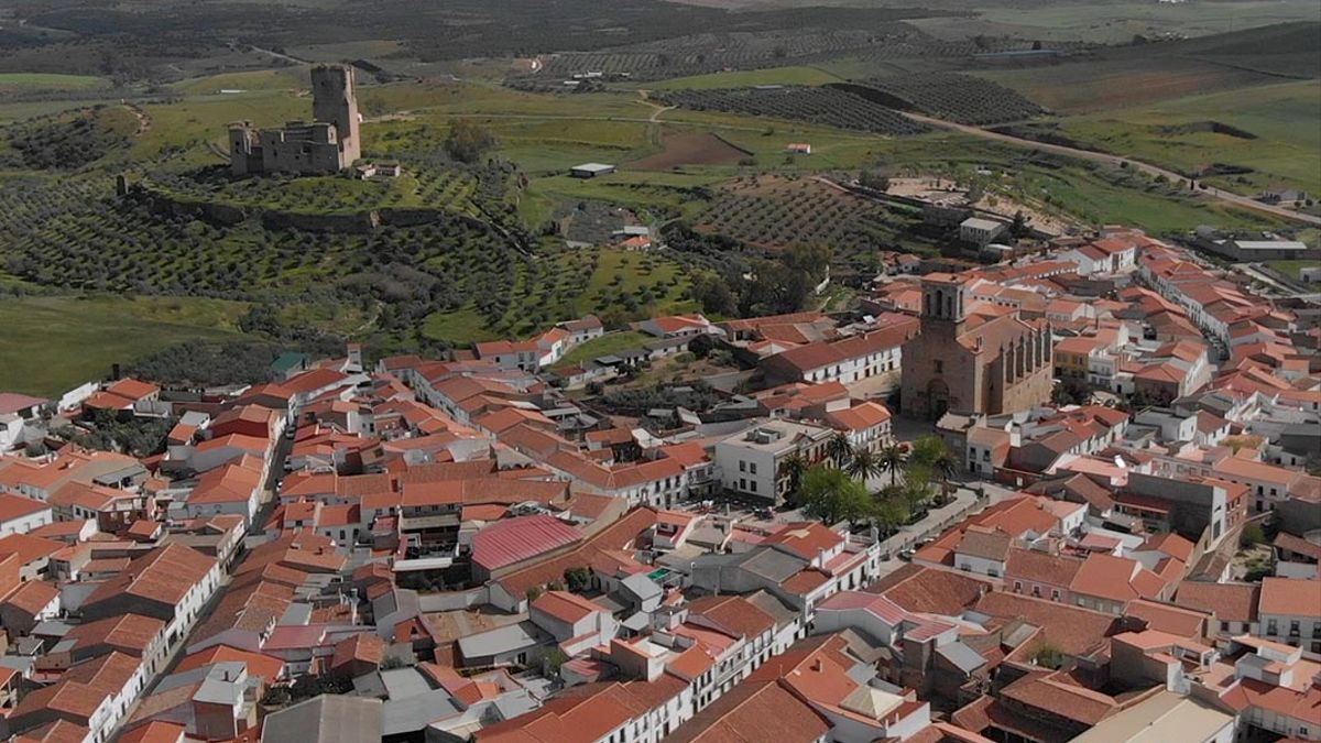Imagen aérea de Belalcázar.