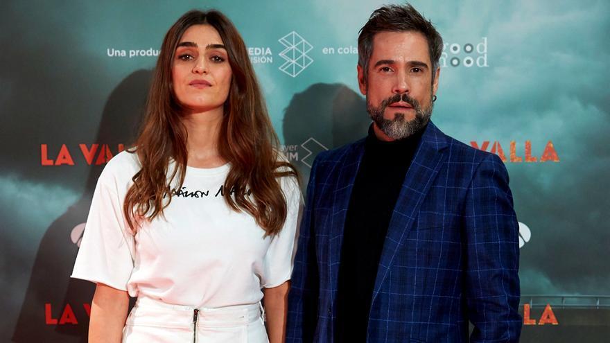 Olivia Molina y Unax Ugalde en la presentación de 'La Valla'