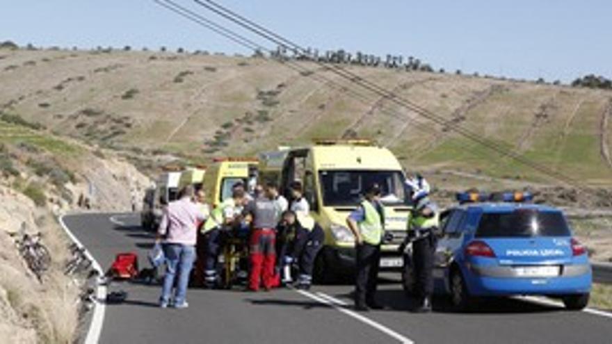 El herido fue evacuado al Hospital Insular. (ACN PRESS)