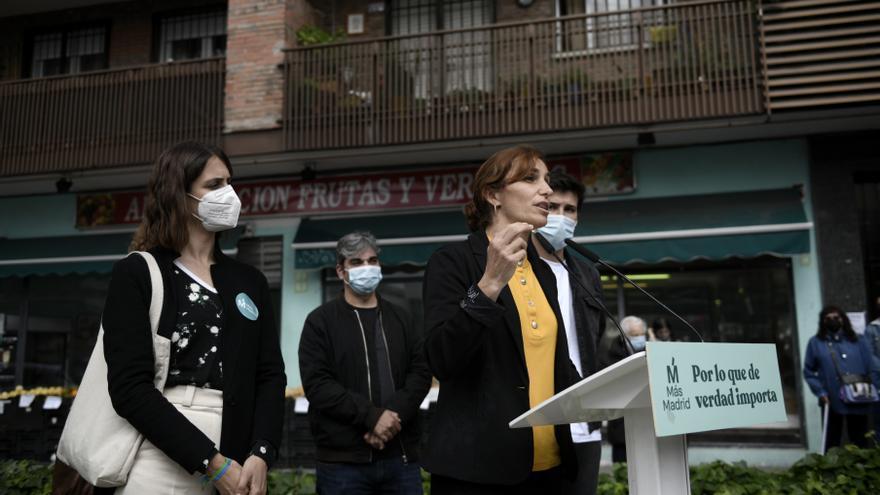 La portavoz de Más Madrid del Ayuntamiento, Rita Maestre, y la candidata de Más Madrid a la Presidencia de la Comunidad de Madrid, Mónica García