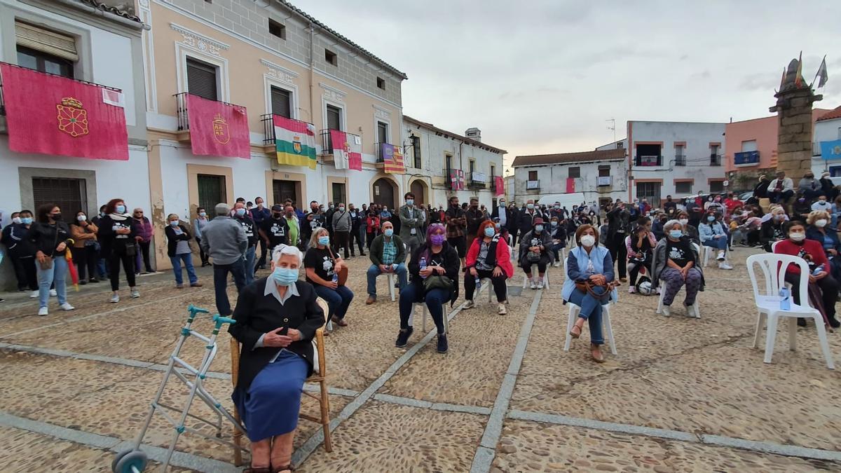 Una imagen de la concentración-protesta en Garciaz