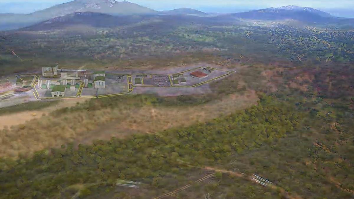Recreación en 3D de la mina de litio en San José de Valdeflores en Cáceres
