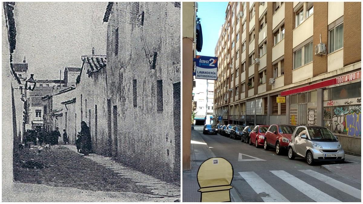 Calle Cercedilla, en 1914 y en 2021