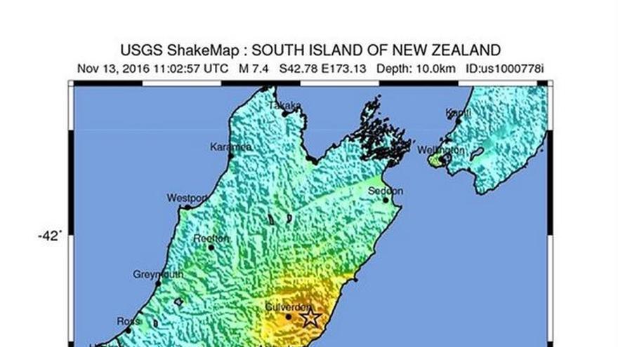 Emiten una alerta de tsunami tras un seísmo de 7,4 grados en Nueva Zelanda