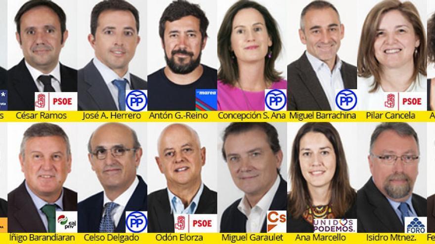 Integrantes de la comisión de investigación política en el Congreso sobre el accidente del Alvia