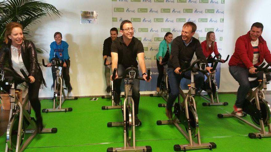 Las autoridades municipales aprovecharon la jornada para hacer ejercicio.