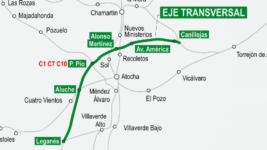 Eje transversal de la nueva línea de Cercanías por Alonso Martínez