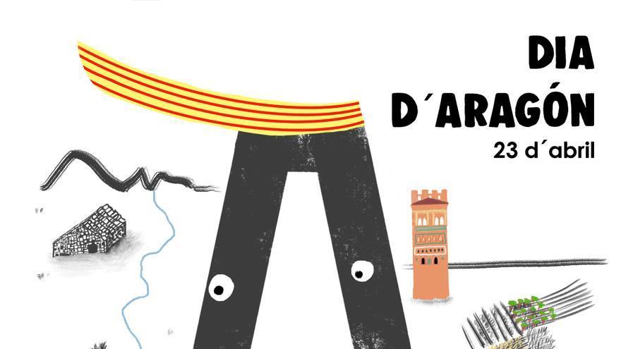 Cartel conmemorativo del Día d'Aragón, por Pilar Serrano.