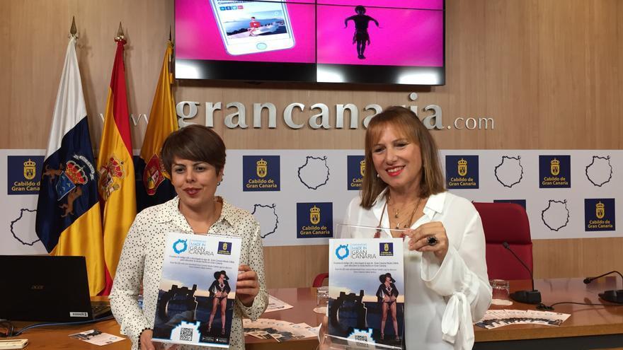 Minerva Alonso e Inés Jiménez en la presentación de la nueva aplicación de Moda Cálida