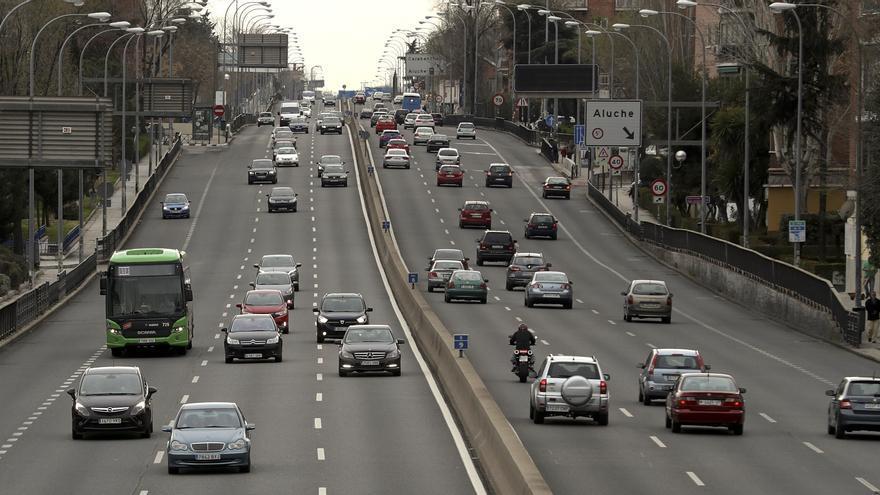 La A5 a la altura de Cuatro Vientos, en Madrid.