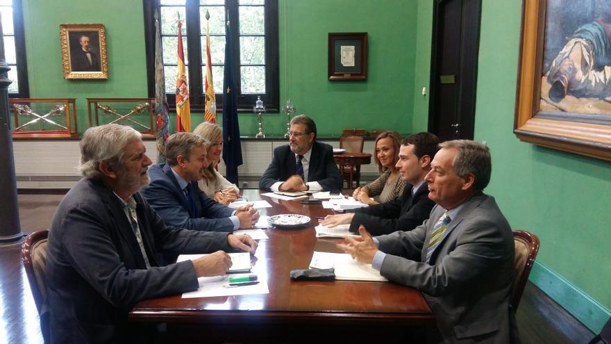 Reunión entre representantes del Gobierno de Aragón y de la Universidad de Zaragoza.