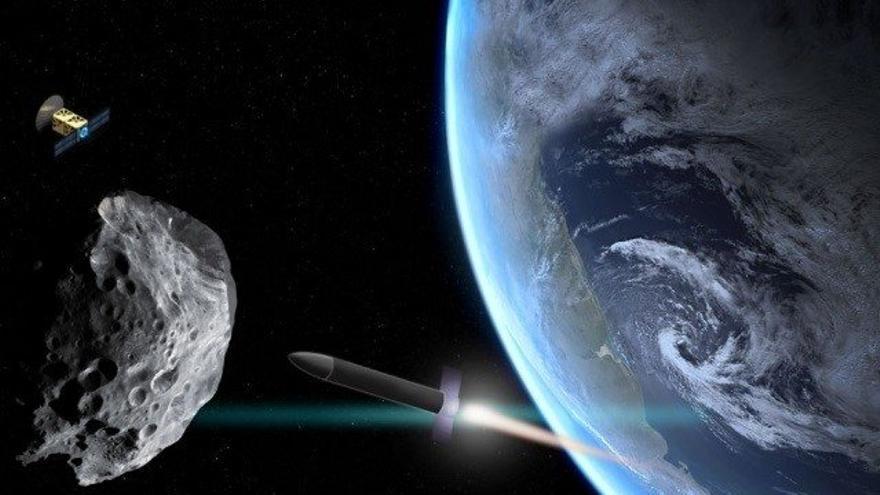 Ilustración de un método de defensa planetaria