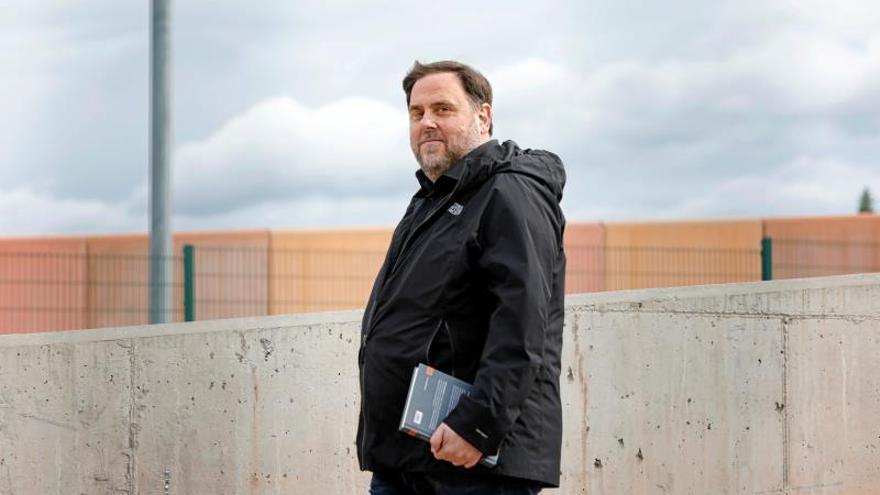 Oriol Junqueras, en una salida de la prisión de Lledoners.