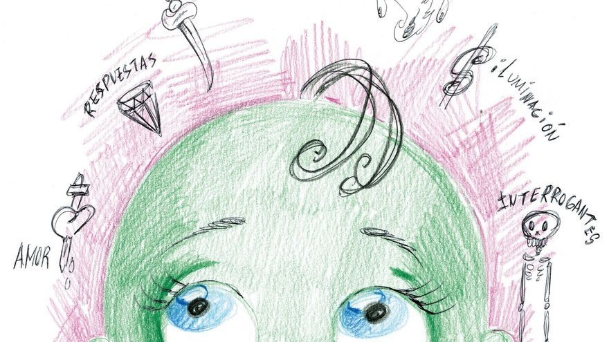 Una de las ilustraciones del libro 'El bebé verde', héroes pop e identidad de género