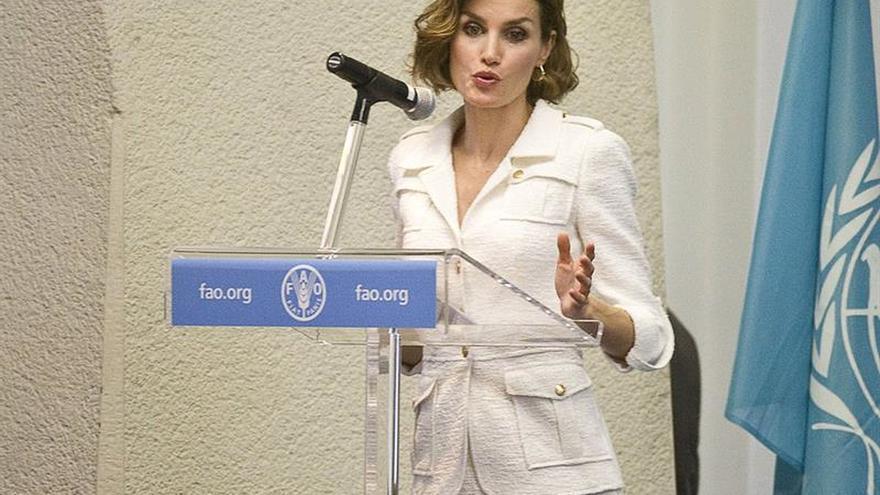 La reina Letizia asiste en la FAO a un simposio internacional sobre nutrición