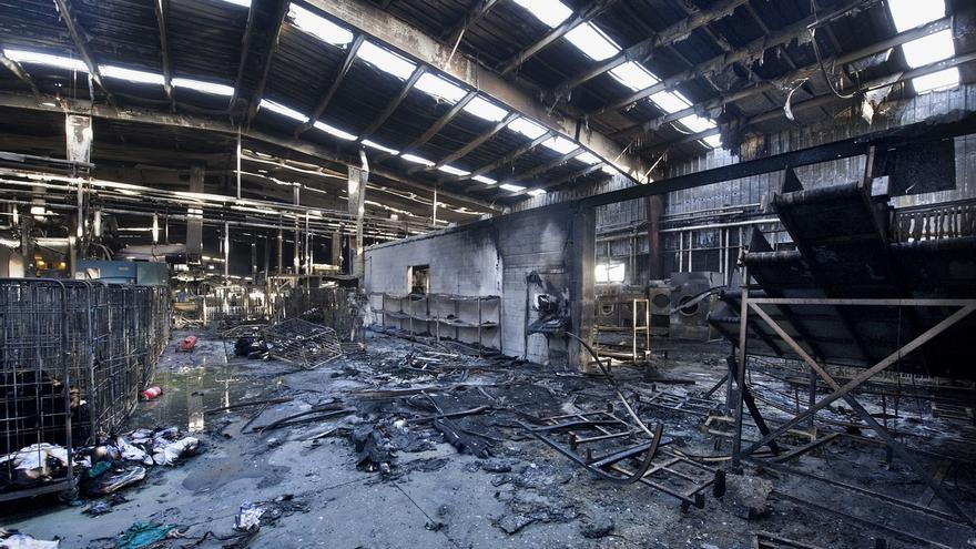 Ayerdi ofrece la colaboración del Gobierno para reconstruir la lavandería de Marcilla